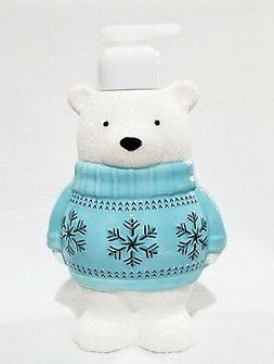 1 Bath & Body Works BLUE SWEATER BEAR Foaming Hand Soap Disp