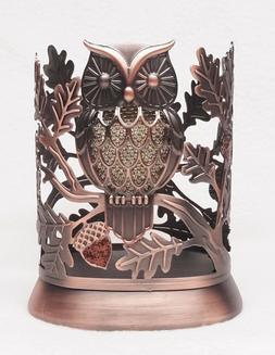 1 Bath & Body Works GLITTER OWL Bronzed Metal Hand Soap Slee