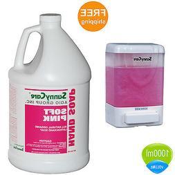 1015W-3001 Refillable Manual Liquid Soap Dispenser and 1Gall