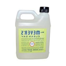 Mrs. Meyers 1205350 33 fl oz Liquid Hand Soap Refill, Lemon