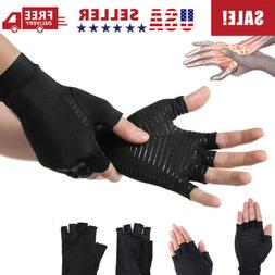 1Pair Copper Fit Arthritis Compression Gloves Hand Support J