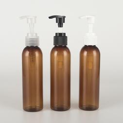 1pcs 150ml brown round shoulder screw pump Shampoo shower ge