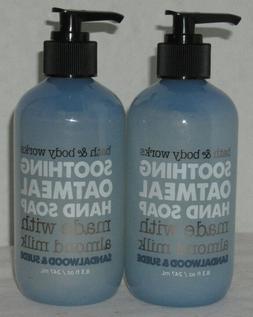 2 Bath & Body Works Sandalwood & Suede Soothing Oatmeal Hand