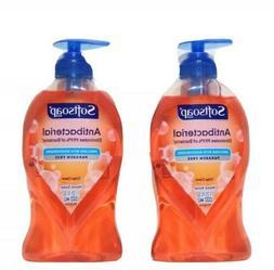 2 Softsoap  Antibacterial Liquid crisp clean  Scent Handsoap