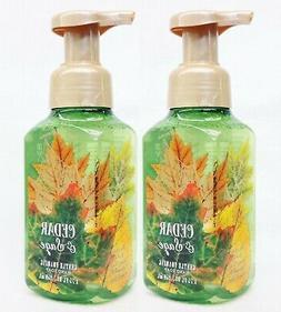2 Bath & Body Works CEDAR & SAGE Gentle Foaming Hand Soap Wa