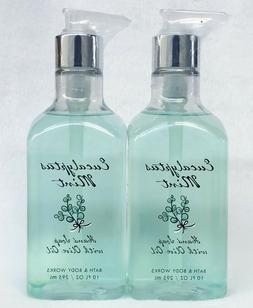 2 Bath & Body Works EUCALYPTUS MINT Luxe Olive Oil Hand Soap