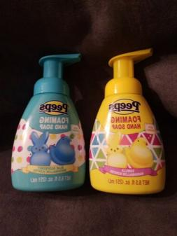 2 Bottles Peeps Foaming Hand Soap Vanilla Marshmallow and Bl