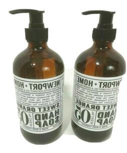 2 Bottles, Newport + Home Hand Soap, Sweet Orange 16 oz by H