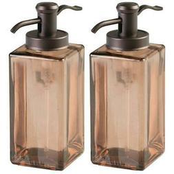 2 Pack Liquid Hand Soap Lotion Glass Dispenser Pump Bottle H