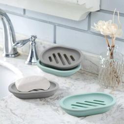 2-PCS Soap Dish With Drain, Soap Holder, Soap Saver, Case Ea