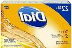 22 Bars DIAL Deodorant Soap Gold Hand, shower, bath, 4 Oz, B
