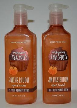 3 Bath and/& Body Works PUMPKIN CUPCAKE Nourishing Hand Soap