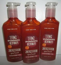 3 Bath and/& Body Works SWEET CINNAMON PUMPKIN Nourishing Ha
