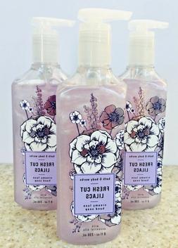3 Bath & Body Works FRESH CUT LILACS Creamy Luxe Hand Soap 8