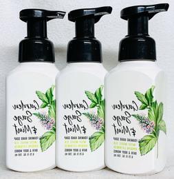 3 Bath & Body Works GARDEN SAGE MINT Gentle Foaming Hand Soa