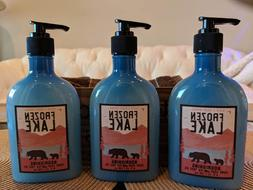 3 cans Bath & Body Works FROZEN LAKE Nourishing Hand Soap Te