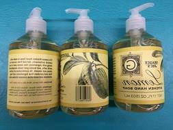 3 NEW Trader Joe's LEMON KITCHEN HAND SOAP Next To Godliness
