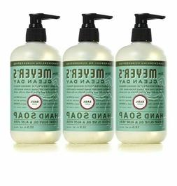 3 Packs Mrs. Meyers Clean Day Hand Soap, Basil 12.50 oz