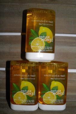 3 X Bath Body Works Kitchen Lemon Smartsoap Refill Foaming H