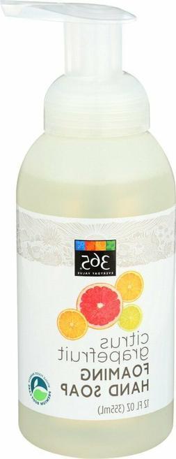 365 Everyday Value, Foaming Hand Soap Citrus Grapefruit Scen