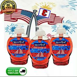 3x Softsoap Hand Soap Red White & Cherry 5.5 fl oz each=16.5