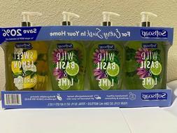 Softsoap 4 Pack Liquid Hand Soap 13 Fl.Oz.  Wild Basil Lime