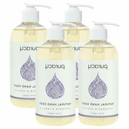 4Packs Puracy Natural Liquid Hand Soap, Lavender & Vanilla,