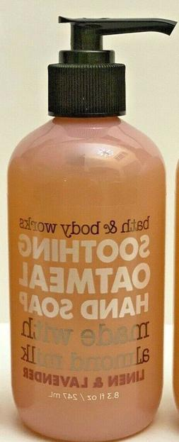 5 Bath & Body Works LINEN & LAVENDER Soothing Oatmeal Hand S