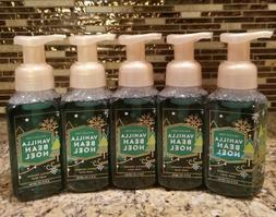 5 BATH AND BODY WORKS VANILLA BEAN NOEL GENTLE FOAMING HAND