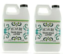 2 Bottles, La Tasse Hand Soap 21.5 FL OZ Each, Beach Scent,