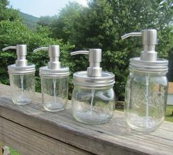 Ball Mason Jar Foaming Soap Dispenser Stainless Steel Lid an