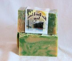 Hand Crafted Bay Rum & Lime  Soap With Goats Milk and Honey,