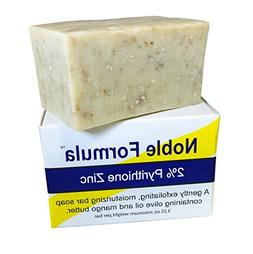 Noble Formula 2% Pyrithione Zinc  Vegan Mango Bar Soap, 3.25