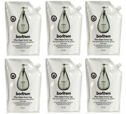 SIX Method Gel Hand Wash Soap Refills SWEET WATER 34oz