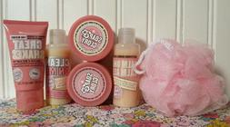 SOAP & GLORY SET SHOWER GEL BUBBLE BATH HAND CREAM BUTTER PO