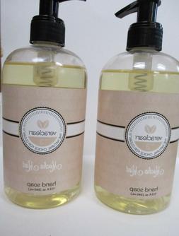 VERACLEAN natural mocha mint hand soap lot of 2