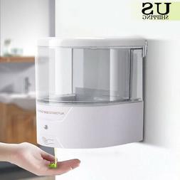 600ML ABS Wall Mount Soap Dispenser Automatic IR Sensor Hand