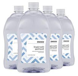 Amazon Brand - Solimo Gentle & Mild Clear Liquid Hand Soap,