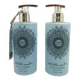 Vivian Gray AMBER & CEDAR Cream Hand Soap 13.5 oz, Made in G