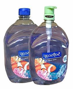 Softsoap Aquarium Hand Soap Refill 64 Fl Oz Bottles  w/Pump