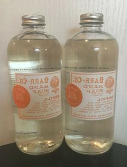 "BARR CO. Hand Soap Refill ""Blood Orange"" Hand Wash 16 oz. HT"