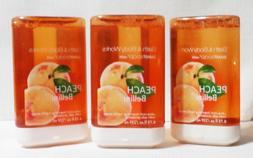Bath and & Body Works lot of 3 Peach Bellini SmartSoap refil