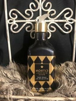 BATH & BODY WORKS CITRON & SANDALWOOD HAND SOAP WITH OLIVE O
