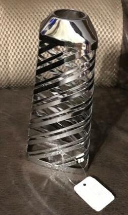 BATH & BODY WORKS Silver Wraparound Stripes Hand Soap Sleeve