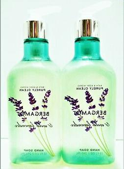 Bath Body Works Purely Clean BERGAMOT & WILD LAVENDER Hand S
