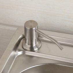 Brushed Nickel Countertop Liquid Dish Hand Pump Kitchen Sink