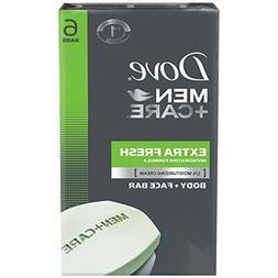 Dove Men+Care Body and Face Bar, Extra Fresh 4 oz, 6 Bar