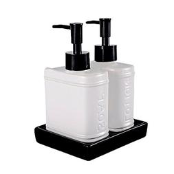 Wentao 3 Piece Ceramic Bath Accessory Set Liquid Soap or Lot