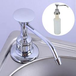 Chrome Liquid Hand Soap Dispenser Kitchen Bathroom Home Sink