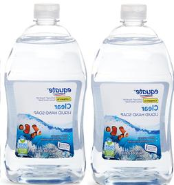 """2 Pack EQUATE CLEAR HAND SOAP REFILL- 2X 56oz SAFER CHOICE """""""
